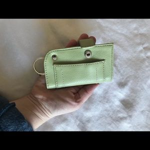 Small mint green keychain wallet